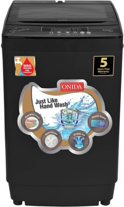 Onida 6.5 kg Fully Automatic Top Load Washing Machine Grey  (T65GRDG)