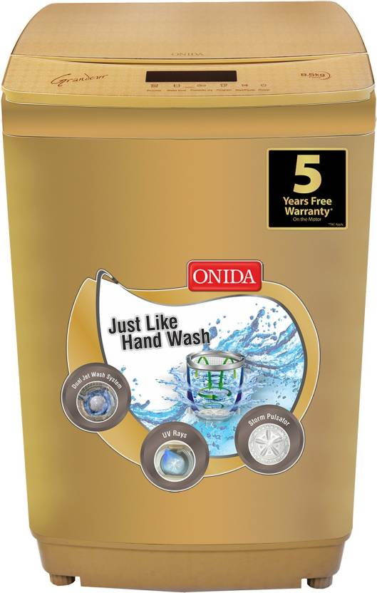 Onida 8.5 kg Fully Automatic Top Load Washing Machine Gold