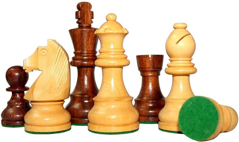 Chessncrafts King Height 3 75 Wooden Chess Men Pieces Coins Set