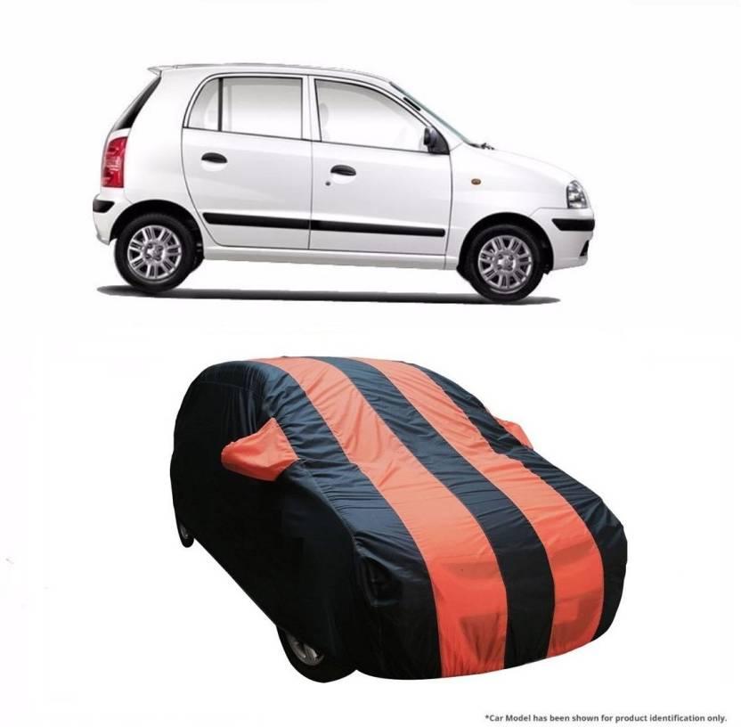 11335a1c5f93 Flipkart SmartBuy Car Cover For Hyundai Santro Xing (With Mirror Pockets)  (Orange