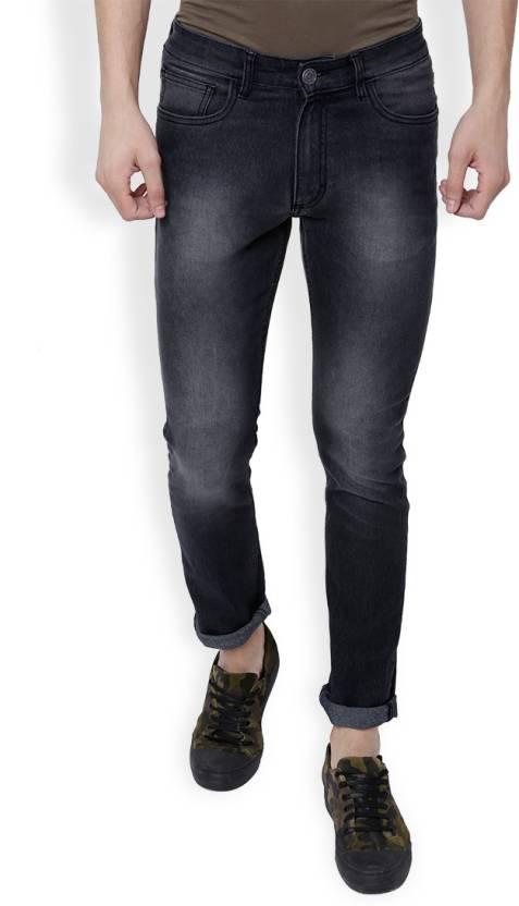 Highlander Slim Men Black Jeans