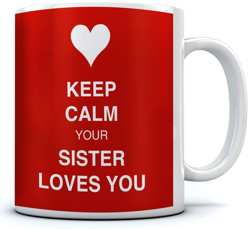Ramposh Best Sister Quotes Coffee Red Gift For Sister Ceramic Mug