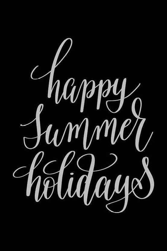 Posters Happy Summer Holidays Quote Printed Poster Funny