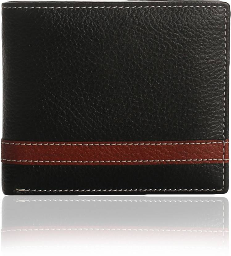 58a7c191d5176 K London Men Casual, Formal Black, Brown Genuine Leather Wallet (4 Card  Slots)