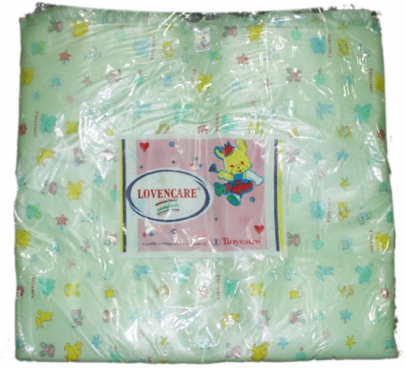 Tiny Care Baby Bed Printed With Foam 203b Xl Size Green Standard