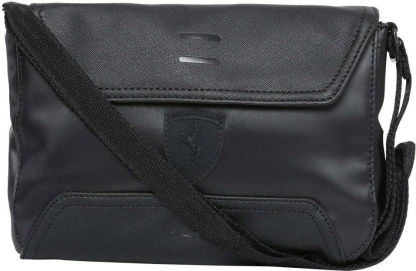 c7f30369352e Puma Ferrari LS Small Satchel Sling Bag (Black