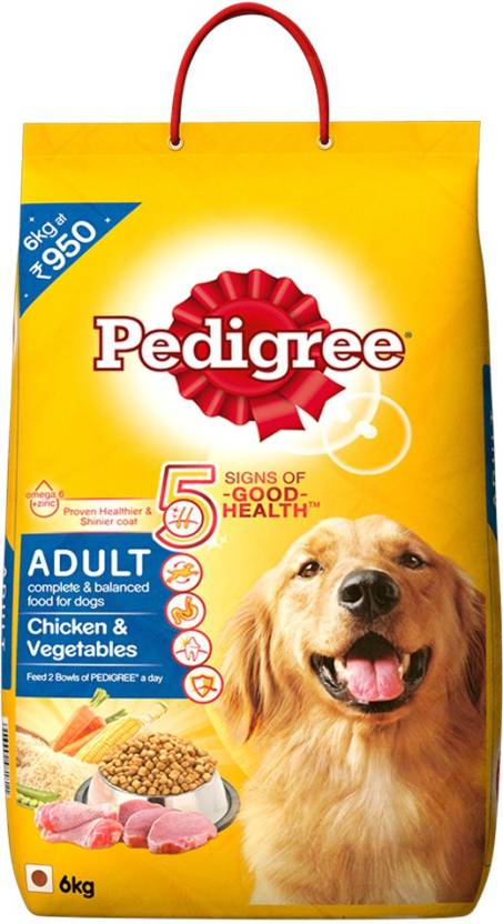 Pedigree Adult Chicken, Vegetable Dog Food  (6 kg)