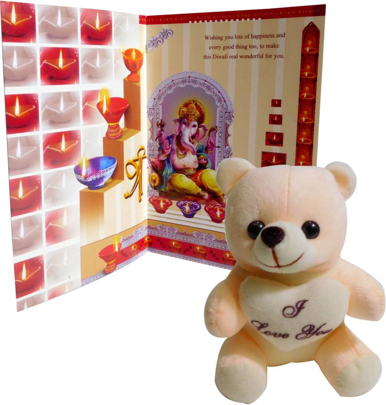 Siddhi gifts diwali greeting cards with soft teddy greeting card siddhi gifts diwali greeting cards with soft teddy greeting card gift set m4hsunfo
