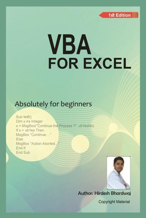 vba for excel absolutely for beginner buy vba for excel rh flipkart com Excel VBA On Books Access VBA Book