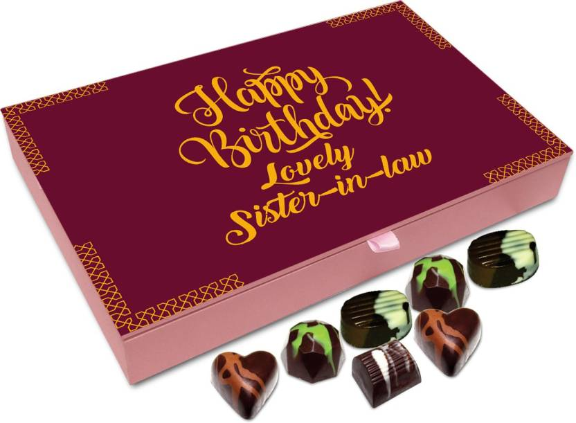 Chocholik Gift Box Happy Birthday Lovely Sister In Law Chocolate