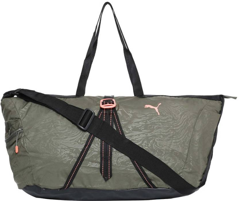 d268a32ca6bbf1 Puma Fit AT Workout Bag Gym Bag Olive Night-Black-nrgy peach - Price ...