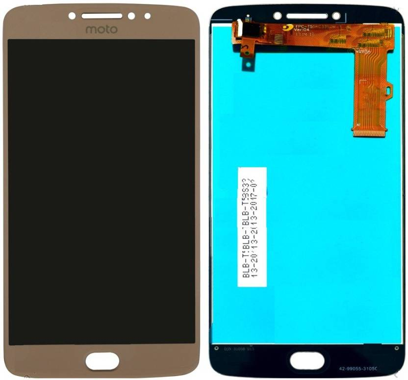 Furious3D Moto E4 Plus Display (Golden) IPS LCD Price in