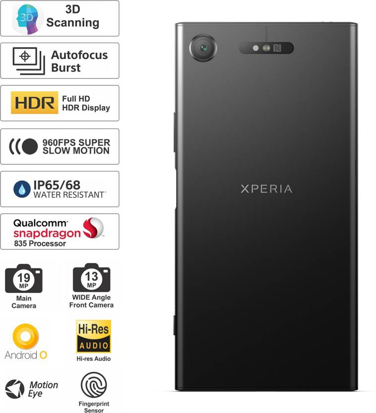 Sony Xperia XZ1 (Black, 64 GB)(4 GB RAM)