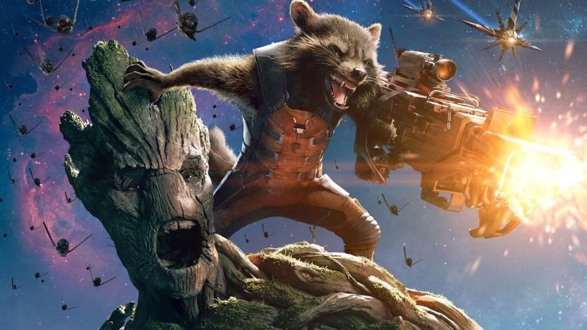 Aabhaas Wall Poster Guardians Of The Galaxy Movies Rocket Raccoon