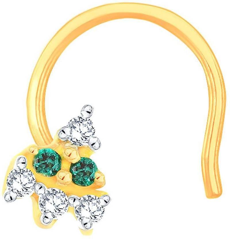 248ae6a13834 Glitterati By Asmi Designer 14kt Diamond Yellow Gold Stud Price in India -  Buy Glitterati By Asmi Designer 14kt Diamond Yellow Gold Stud online at  Flipkart. ...