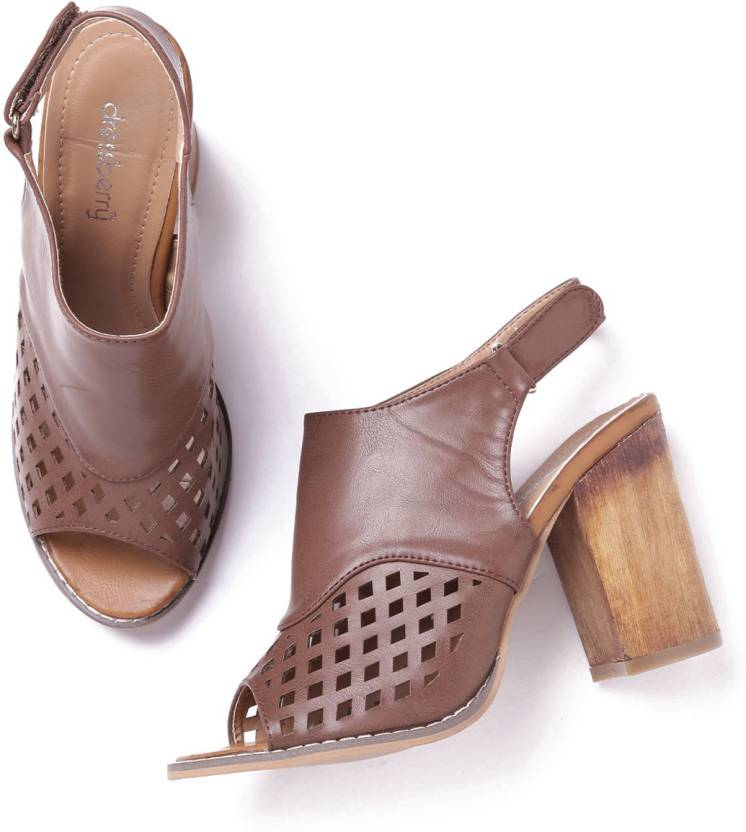 c124756230ba Dressberry Women Brown Heels - Buy Dressberry Women Brown Heels Online at  Best Price - Shop Online for Footwears in India