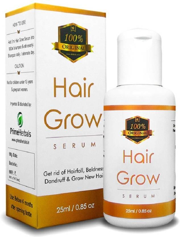 fe2c183ca82 Prime Herbals Hair Grow Serum (25ml) for Hair Growth, Anti Hair Fall &  Volumizer (25 ml)
