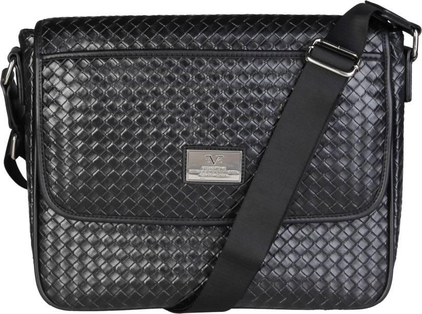 9298fa72ac9 Buy Versace 19.69 Italia Messenger Bag NERO Online   Best Price in ...