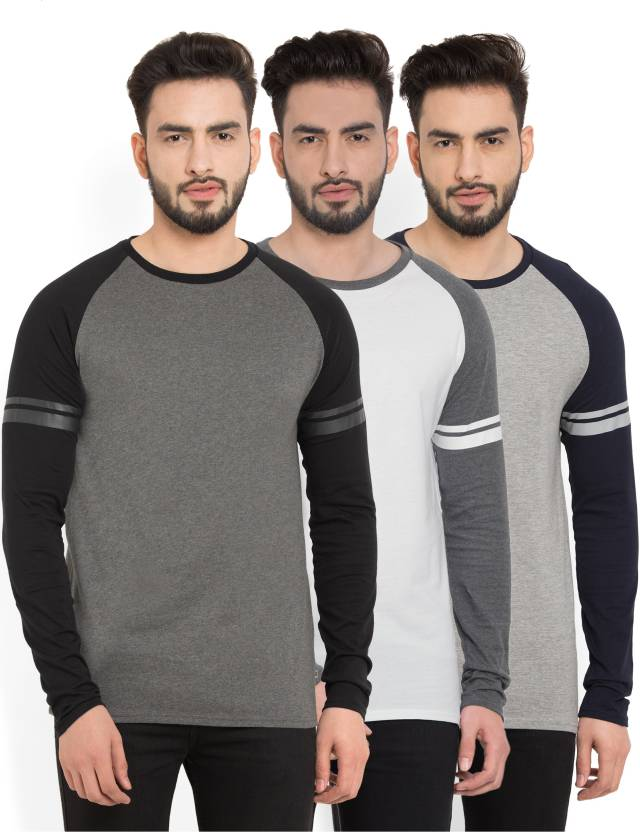 Billion PerfectFit Solid Men Round Neck Grey, White T-Shirt  (Pack of 3)