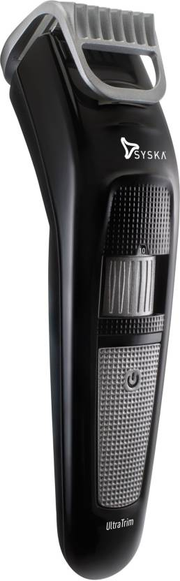 Syska HT100 Cordless Trimmer  (Black, Silver)-27% OFF