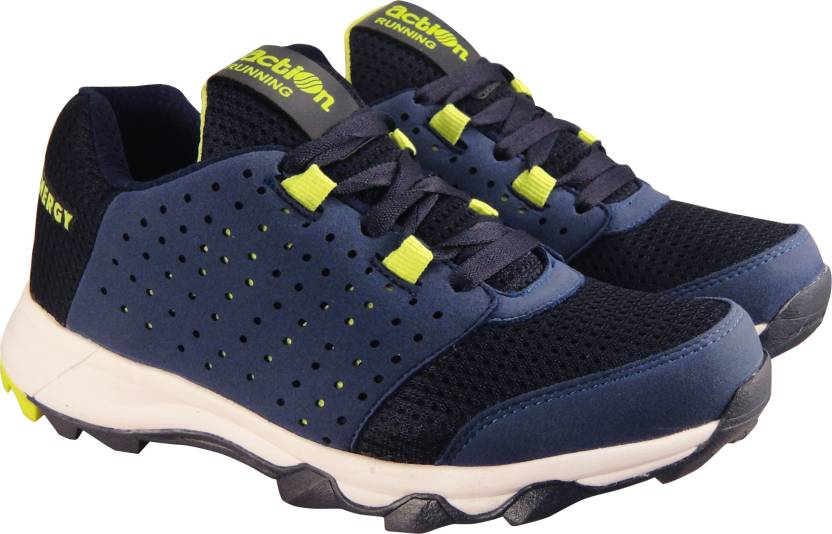 d54c64c91 Action Synergy TRH7211 NavyBlue Green Phylon Sole Sports Running Shoes For  Men (Navy