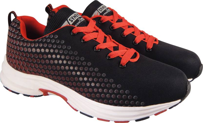 81551f1619a7 Action Synergy SRP7274 Black Red Phylon Sole Sports Running Shoes For Men  (Black