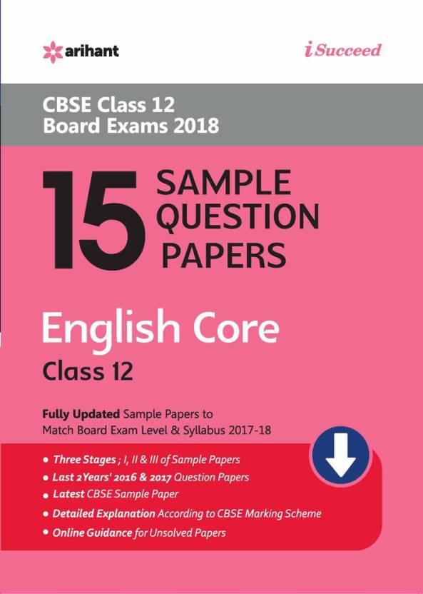 Arihant I Succeed CBSE Class 12th Exam 2018 15 Sample Question