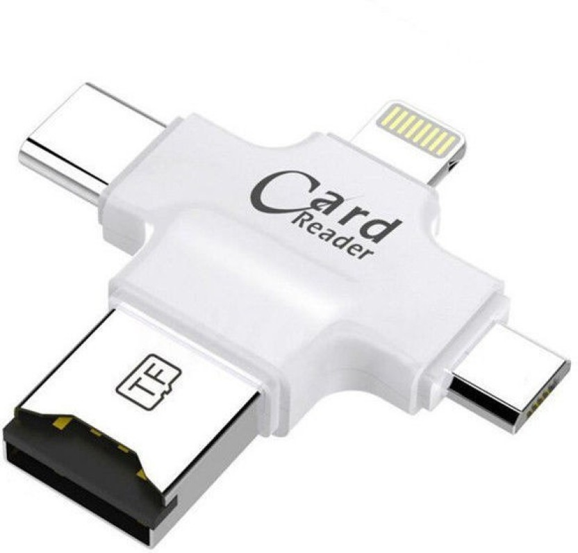 USB Type-C Micro SD Card Reader USB-C to Female USB//Micro OTG Smart 2.0 Adapter