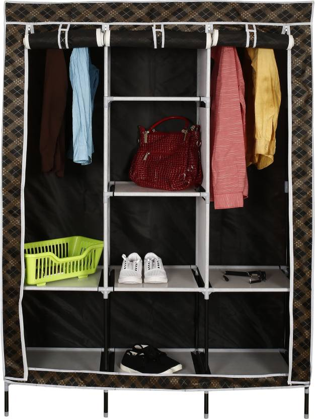 cbeb22eee Evana Carbon Steel Collapsible Wardrobe Price in India - Buy Evana ...