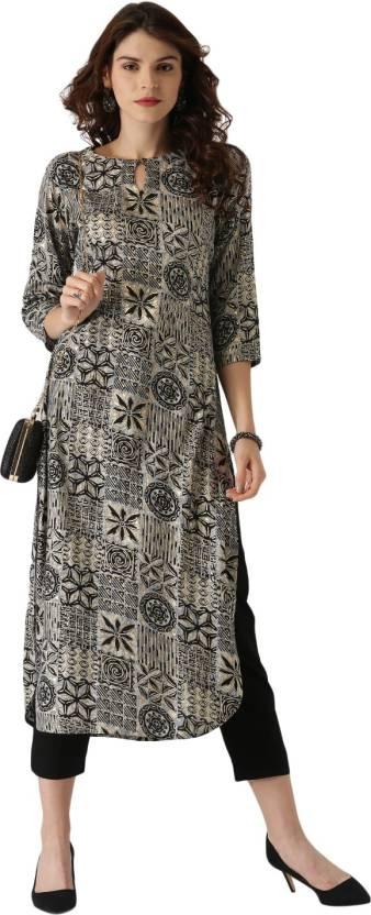 9e50aacb6aa Libas Women Abstract Pathani Kurta - Buy Multicolor Libas Women ...