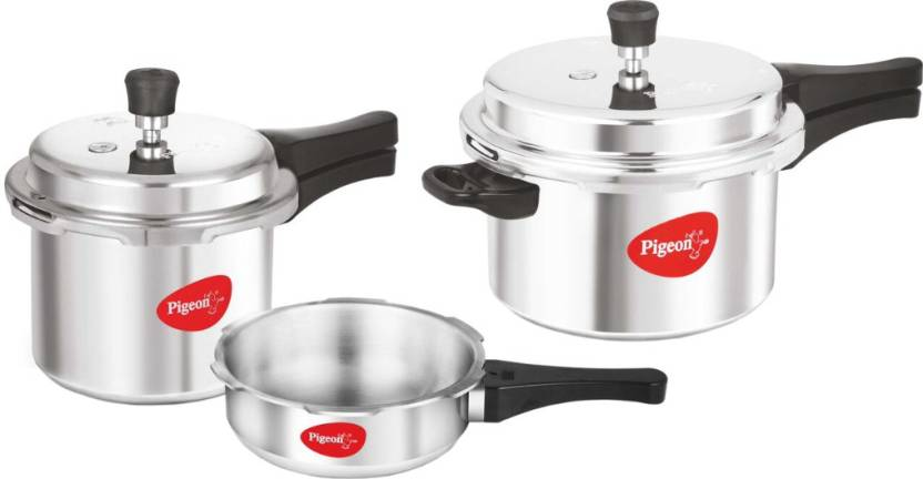 Pigeon Special Combo Pack of 2 L, 3 L, 5 L Pressure Cooker