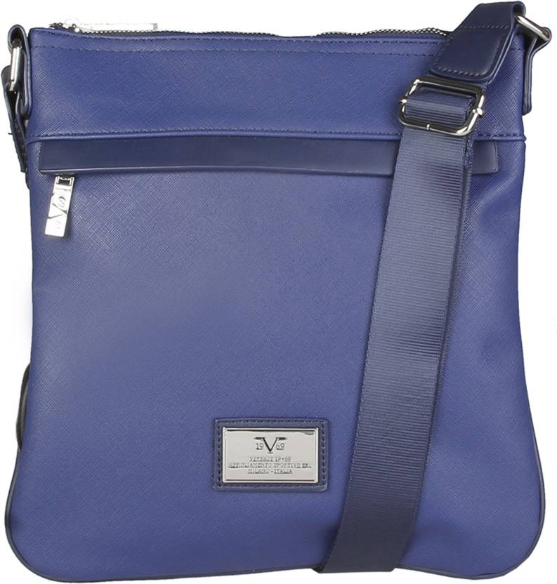Versace 19.69 Italia Men Casual Blue Genuine Leather Sling Bag (Imported) b85d4437ce