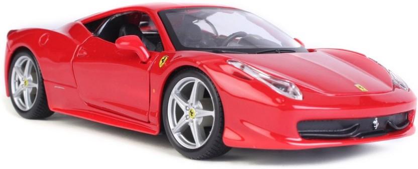 Maisto 1:24 Ferrari 458 Italia Diecast Metal Assembly Line KIT Model Car Red