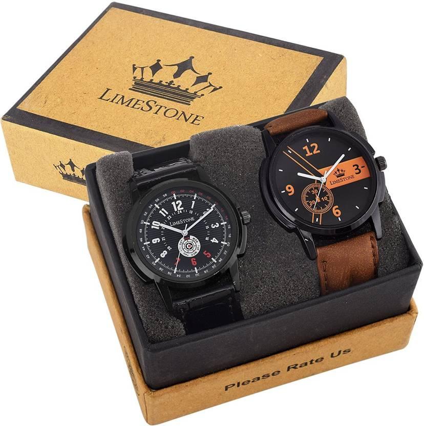 LimeStone LS~33~43 Mr. Lite Combo Watch - For Men