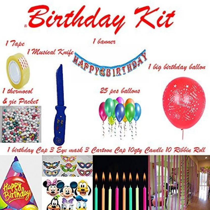 Shop Online Multicolor Birthday Party Kit Full Room Decoration MIx