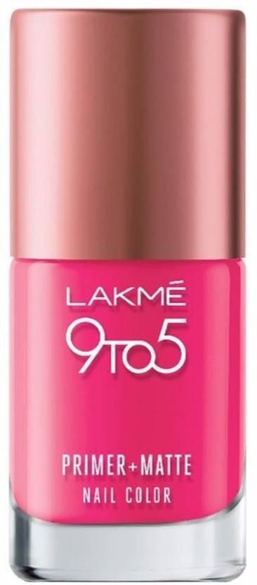 Lakme 9 To 5 Primer Plus Matte Nail Color Fuchsia Price In India