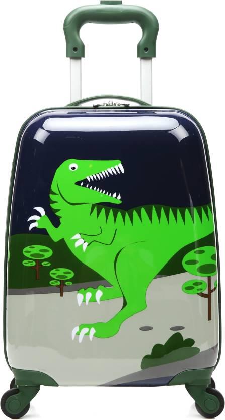 a60463f05c T-Bags Dinosaur 4 Wheel Trolley Bag Cabin Luggage - 16 inch Dark ...