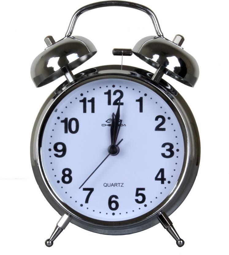 ONEKLIK Analog Steel- Twin Bell Alarm Clock