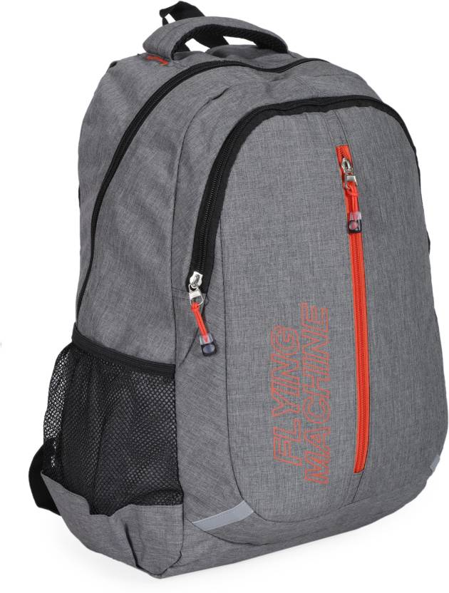 90aead9718b8 Flying Machine LAPTOP BAGS 15 L Backpack light grey - Price in India ...