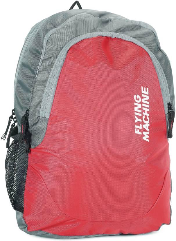 168b29b37b Flying Machine LAPTOP BAGS 15 L Backpack (Red