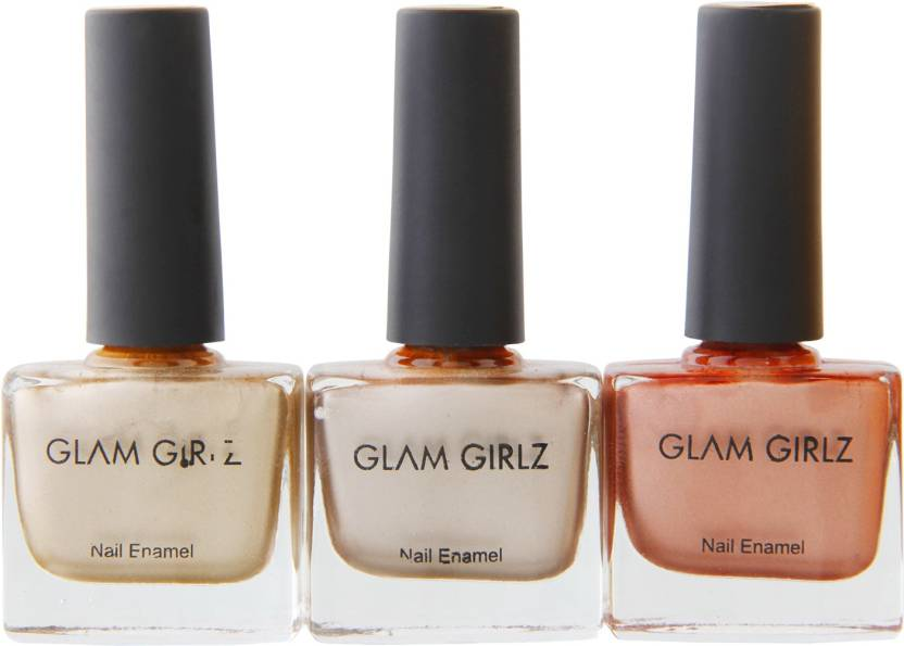 Glam Girlz Chrome Nail Polish Combo03 06 07 Golden Light