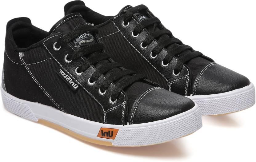 44fe647a7438 Unistar men Canvas Shoes; 5008-Black Canvas Shoes For Men - Buy ...