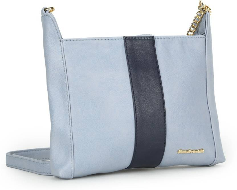 746f9c6b15 Fastrack Women Casual Blue PU Sling Bag Blue - Price in India ...