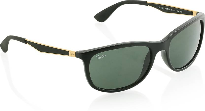 1503ee41234 Buy Ray-Ban Retro Square Sunglasses Green For Men Online   Best ...