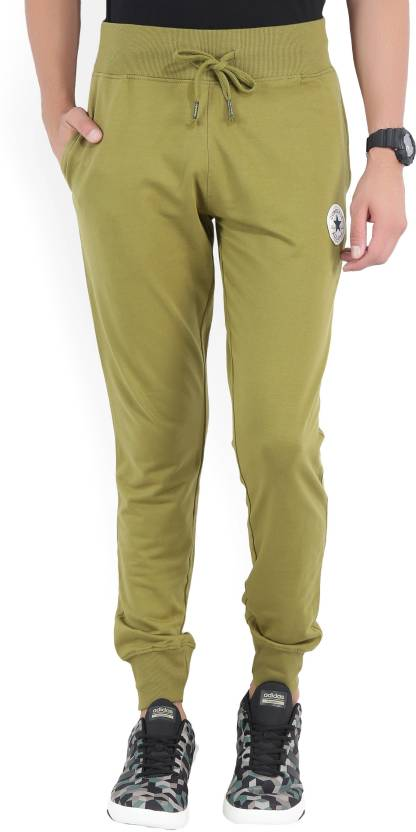 9711f2441bcb Converse Solid Men s Green Track Pants - Buy OLIVE Converse Solid Men s  Green Track Pants Online at Best Prices in India