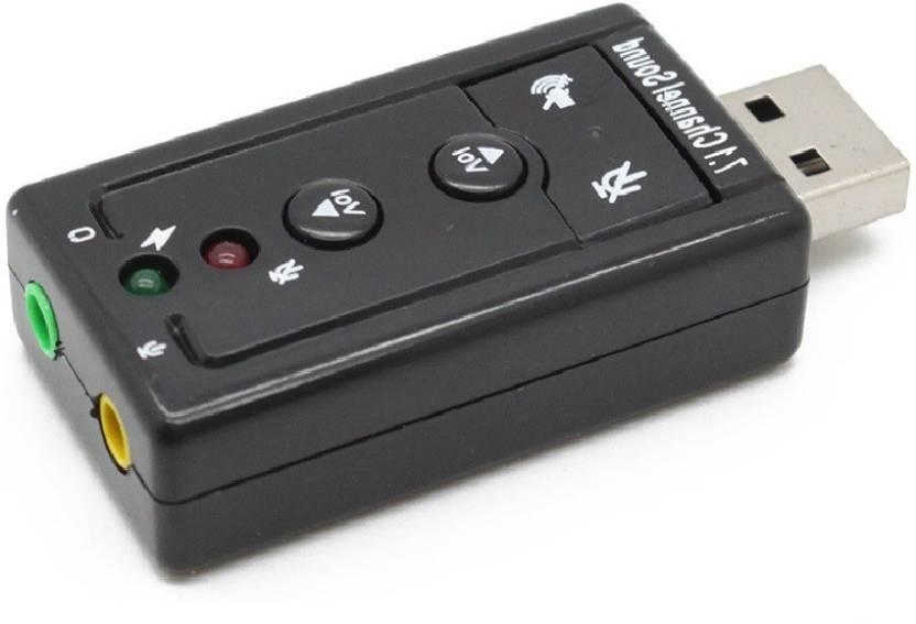 ReTrack Virtual 7 1 Channel External USB Audio Adapter Sound Card