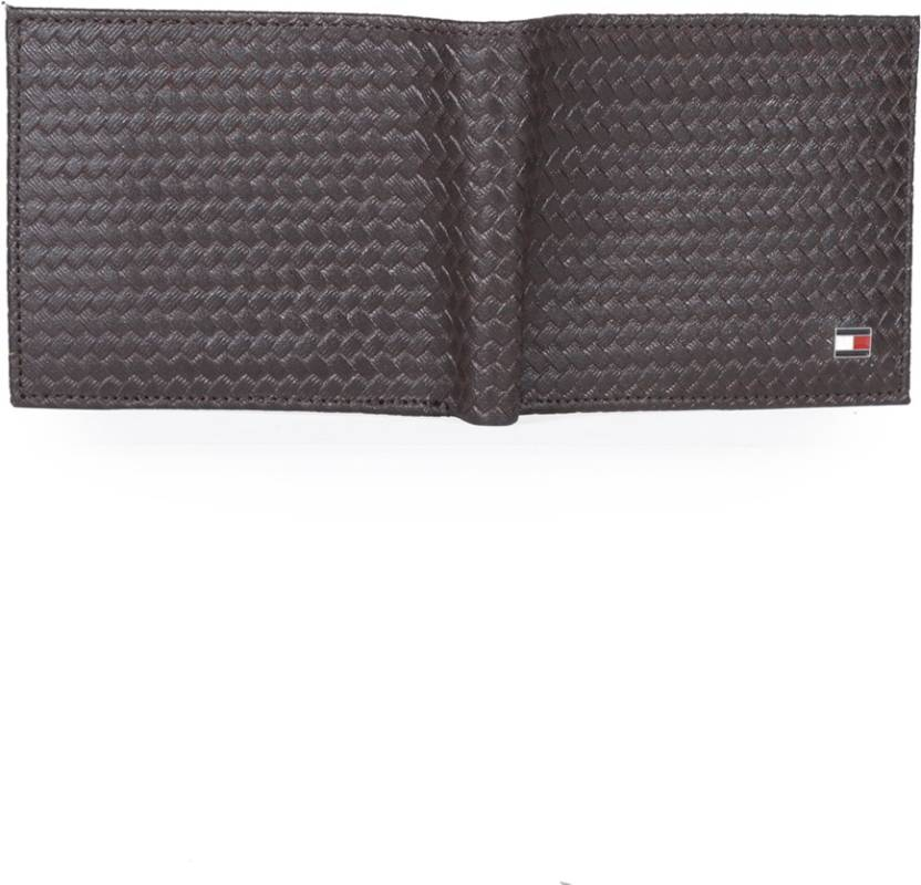 0991255d Tommy Hilfiger Men Brown Genuine Leather Wallet BROWN-08 WITH ...