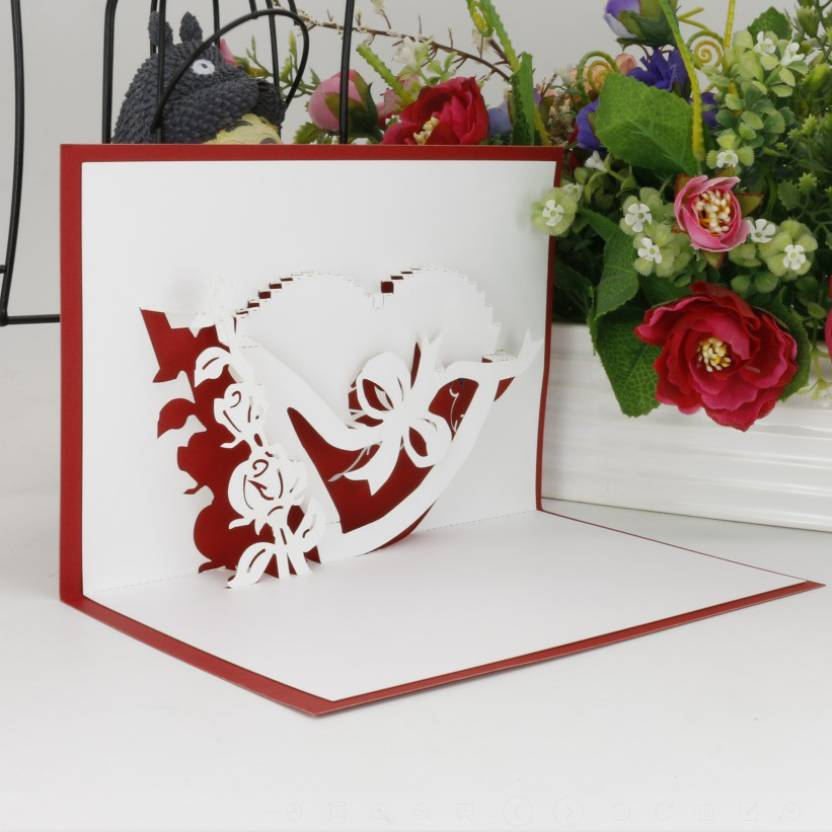 Sweetmade romantic handmade paper craft laser cutting 3d pop up sweetmade romantic handmade paper craft laser cutting 3d pop up greeting card with heart shape m4hsunfo