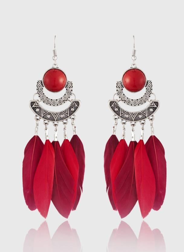 Flipkart.com - Buy Jazz Jewellery Fashion Style Long Feather ...