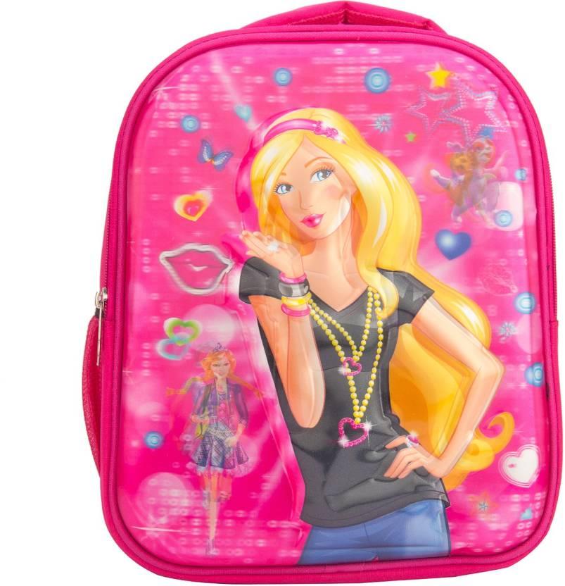 84e85b1e8974 star fashion Barbia 3D school Bag for NURSERY TO 1 CLASS Under 6 Years Kids  Girls Boys BLUE SMALL Size (L X B X H )( 27 x 12 x 36 cm)5L Waterproof  School ...